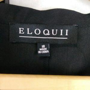 Eloquii Tops - Eloquii Ruffle Peasant Blouse Tie Neck Shirt Black